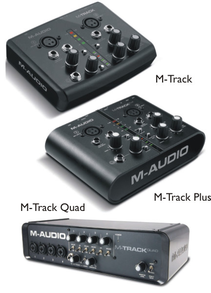 Gear & Industry News - M-Audio launches new M-Track interfaces