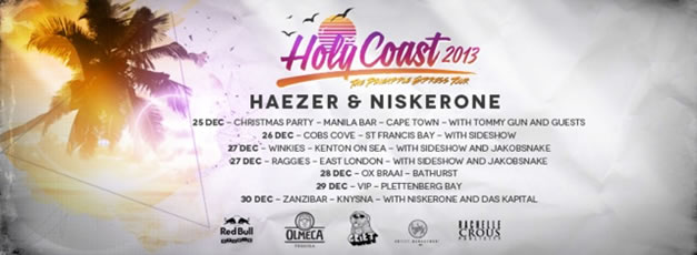 Haezer & Niskerone pack in for Holy Coast 2013 – The Pineapple Express Tour