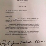 Here's the letter Barack Obama wrote to the Frankie Knuckles family