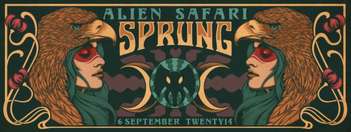 Alien Safari Sprung 2014 flyer