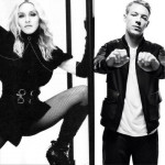 Madonna hangs out with Diplo and Skrillex behind the decks