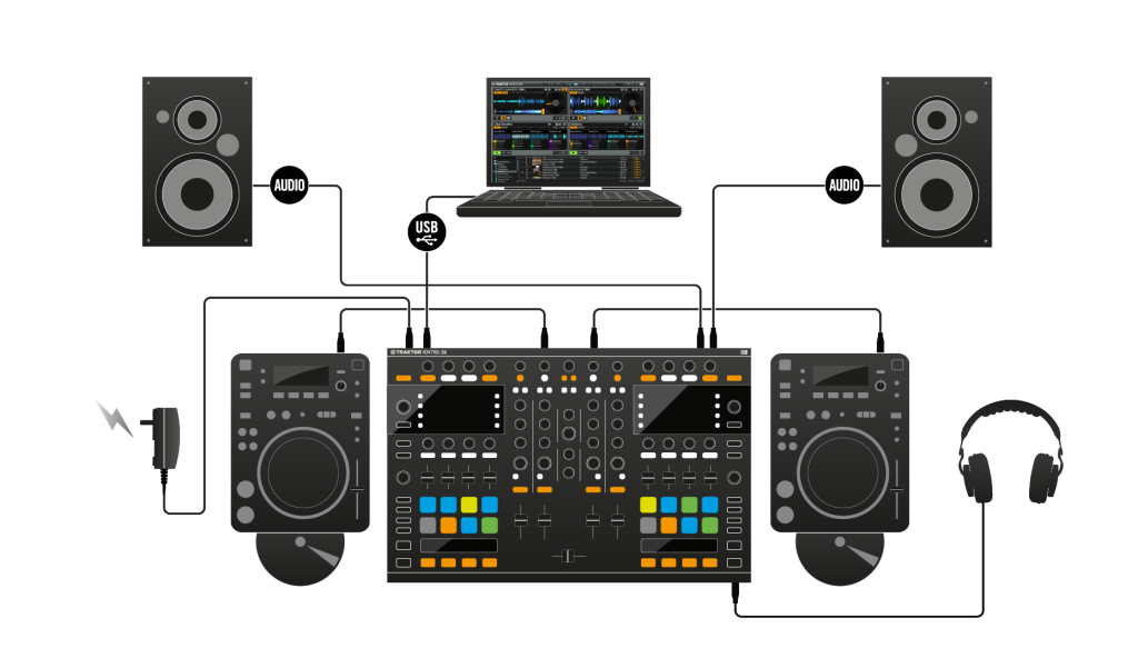 The new Traktor Kontrol S8 ships with Traktor Scratch Pro so what Native Instruments have done to cover their bases by not including jogwheels is to offer full DVS so that one can still connect turntables or CDJs should you want jogwheels.