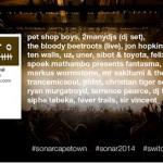 Sónar Cape Town &  A Taste Of Sónar Joburg  Lineup Times