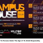 Campus House Tour 2015- all the dates, venues and DJs…