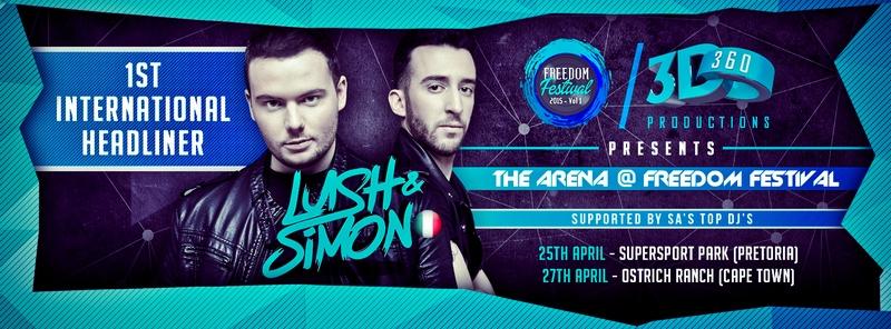 Freedom Fest SA Announce Lush & Simon