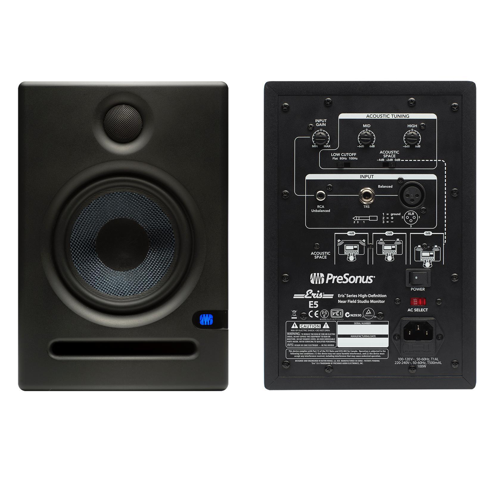 presonus eris e5 active studio monitor review. Black Bedroom Furniture Sets. Home Design Ideas