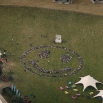 Fatboy Slim creates a Rave Smiley using human bodies