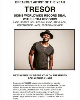 TRESOR signs worldwide record deal