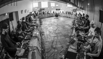 The world's biggest DJ scratch circle in a celebration of turntablism