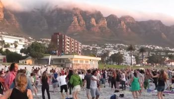 Psytrance on Camps Bay beach – it actually happened