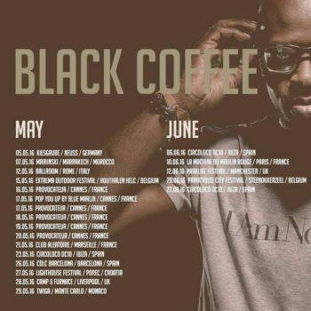Black Coffee Tour Schedule
