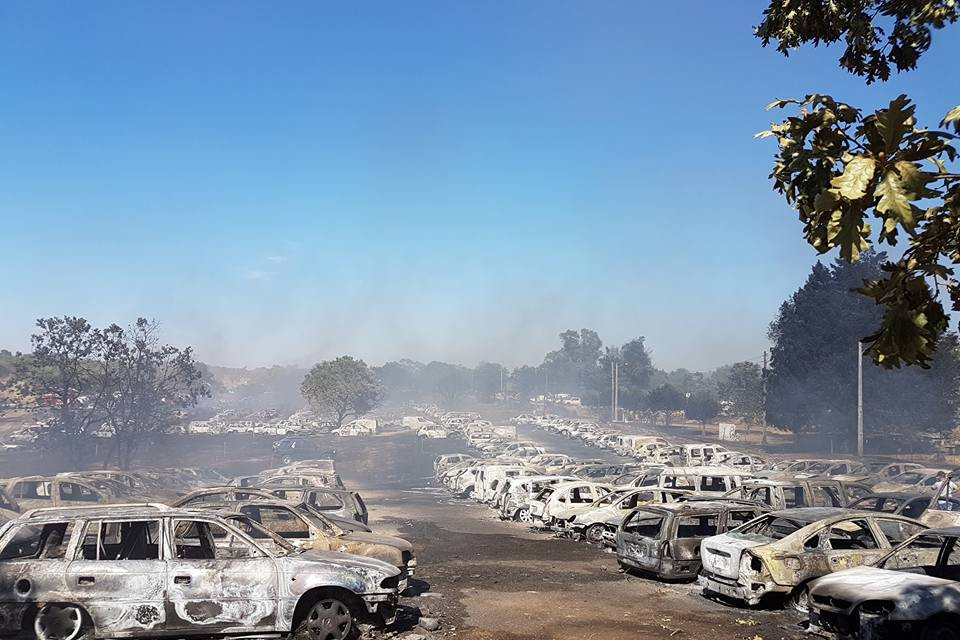 Andancas festival evacuated as 422 cars ablaze