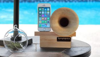 Symphonica is a speaker that requires no electricity whatsoever