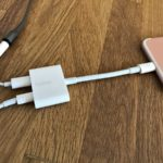 Finally, there's an iPhone headphone jack dongle