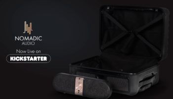 Speakase is a suitcase equipped with a Bluetooth speaker