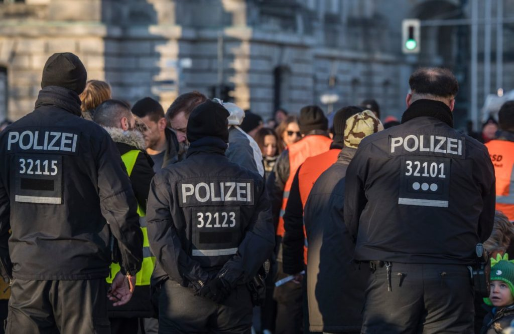 German police attacked