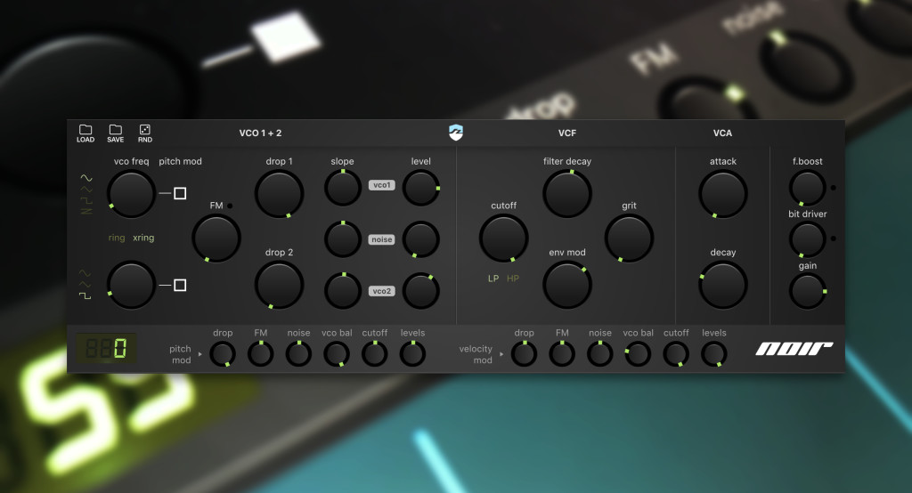 Noir Drum synthesizer for iOS is kind of different