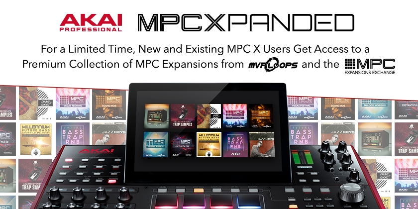 Akai MPC Xpanded is a limited-time promotion for MPC expansions